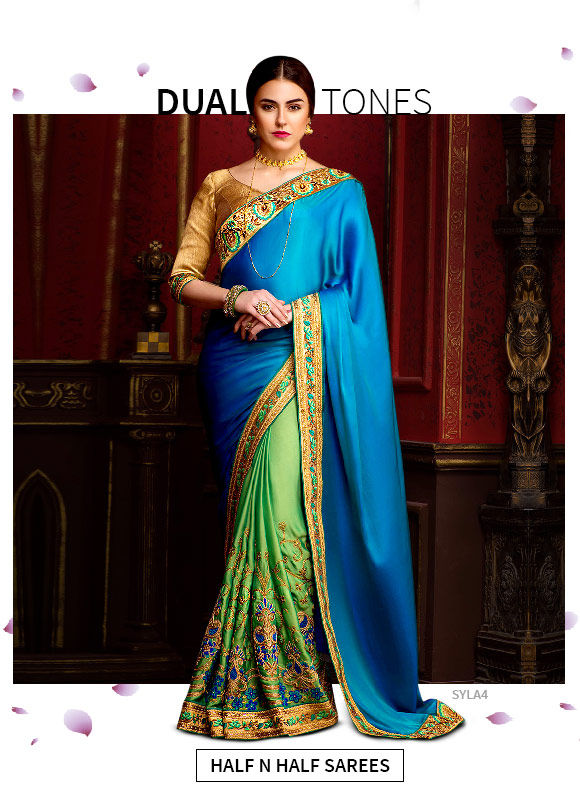 New Arrivals in Half N Half Sarees. Shop!