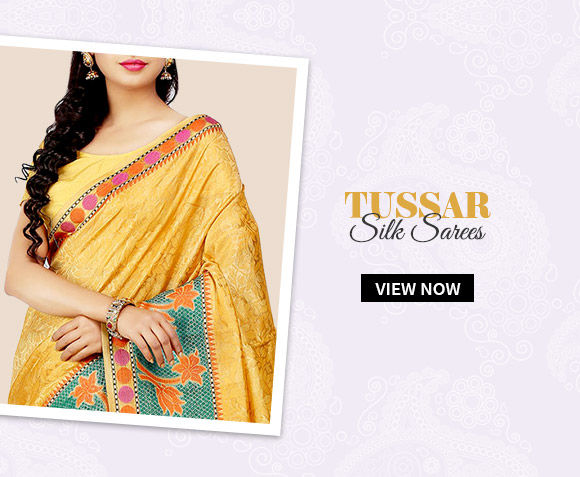Choose from our wide range of Tussar Silk Sarees. Buy Now!