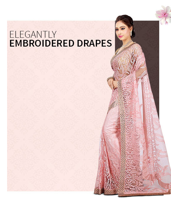 New Arrivals in Embroidered Sarees. Shop Now!