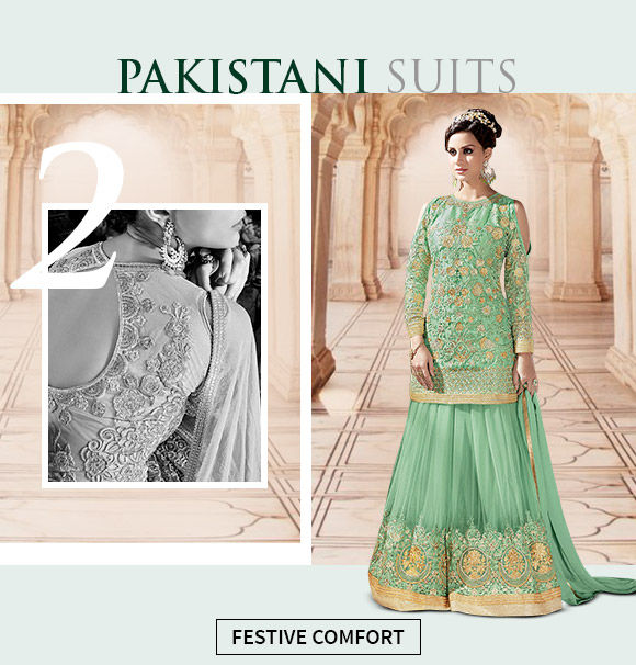 Pick from our wide range of casual pakistani suits.