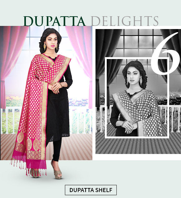 A collection of handwoven dupattas in cotton and silk. Shop Now!