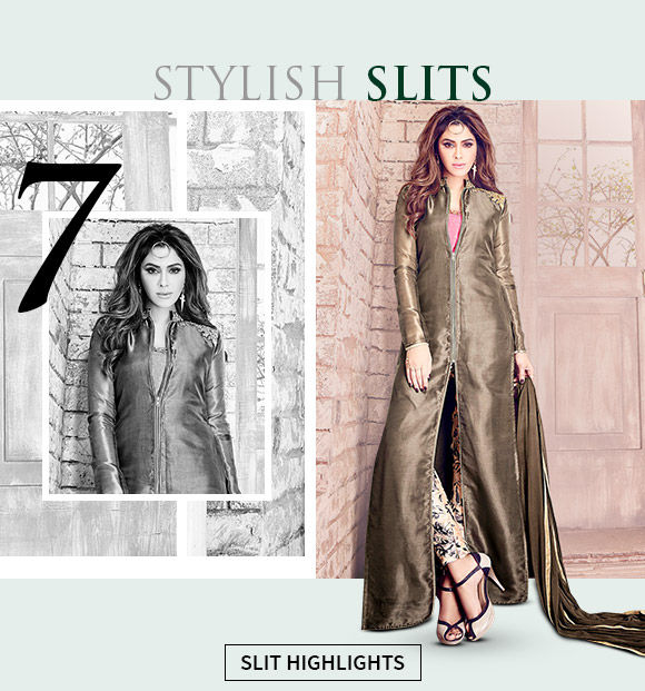Buy long kurtas and suits with front slits now.
