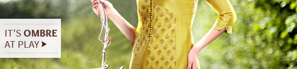 Own ombre saree for summers.