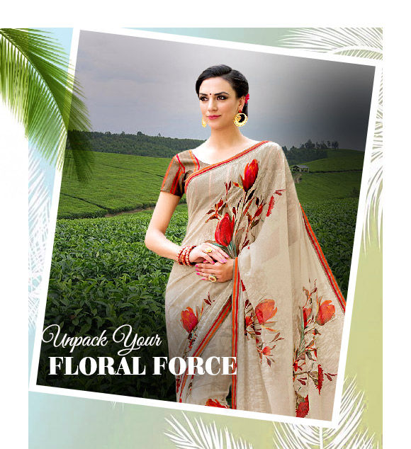 Shop modern floral patterns on casual outfits.