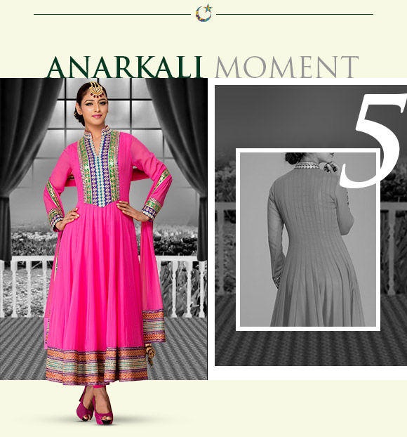 Soak in the regal look of mughal era with anarkali suits. Shop Now!