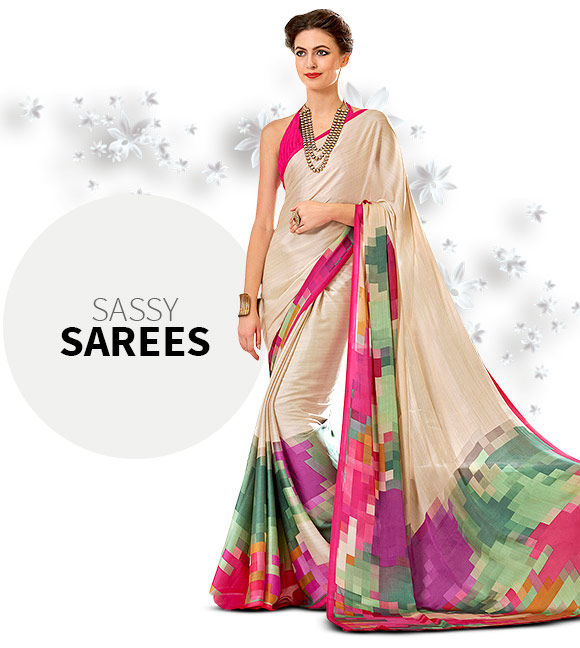 Contemporary Sarees in Net and Georgette. Shop!