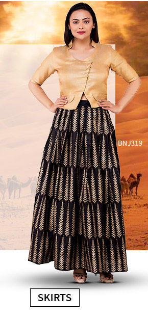 Vacation Closet: Upto 25% Off on Indo western Skirts. Shop!