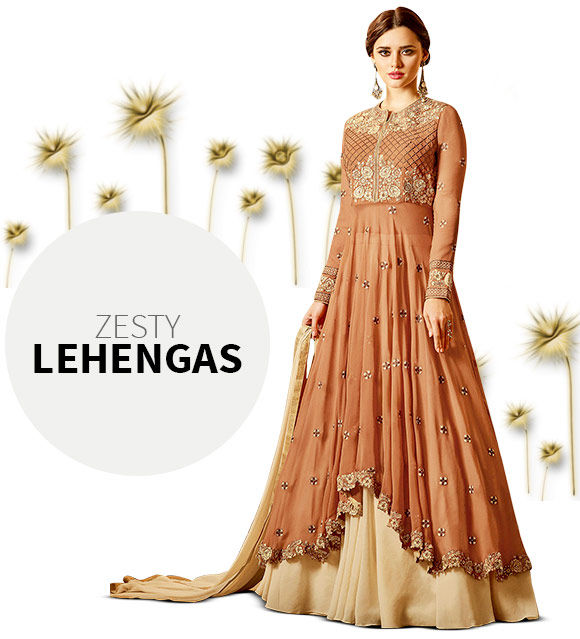 Contemporary Indo Western Lehengas. Shop!