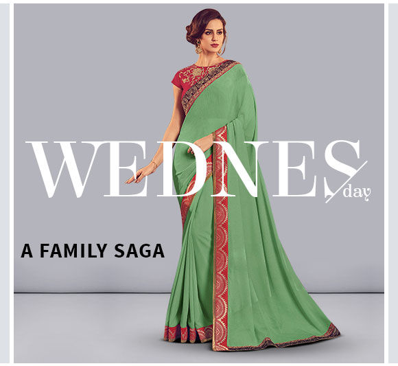 Plain Sarees in Art Silk, Crepe and Georgette. Shop!