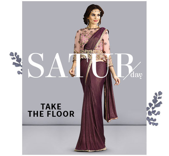 Lycra Sarees with lace and patch border. Shop!
