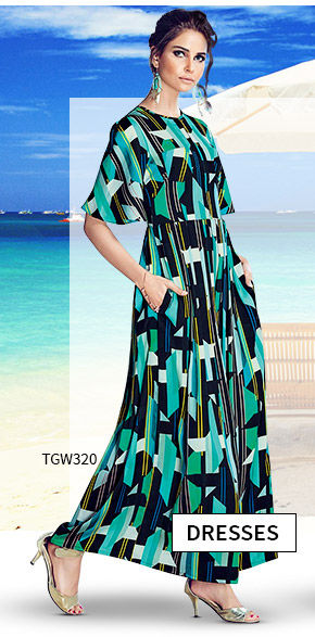 Vacation Closet: Upto 25% Off on Indo western Dresses. Shop!