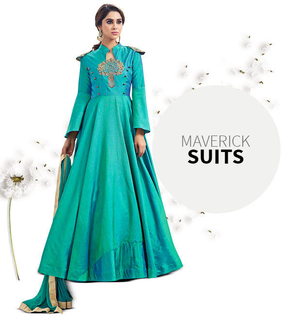 Contemporary Salwar Suits in Abaya and Straight styles. Shop!