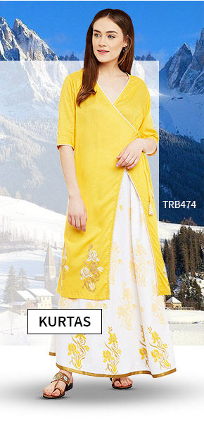 Vacation Closet: Upto 25% Off on Indo western Kurtas. Shop!