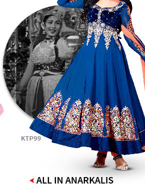 Shop from our beautiful range of Anarkali suits.