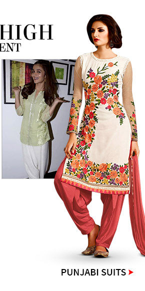 Punjabi Suits in bright colors. Shop!