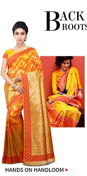 Handloom Silk Sarees from different regions. Shop!