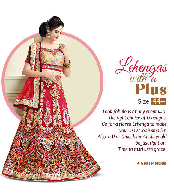 Select from a stunning Collection of Lehengas. Shop!