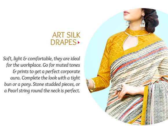 Select from our gorgeous range of Cotton & Art Silk Sarees. Shop Now!