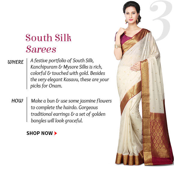 Pick your favorite from our huge array of South Silk Sarees. Buy Now!