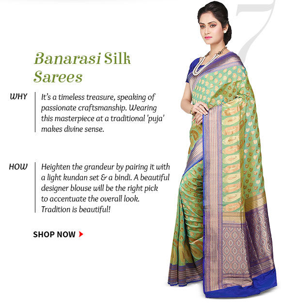 Select from our wide range of Banarasi Sarees. Buy Now!