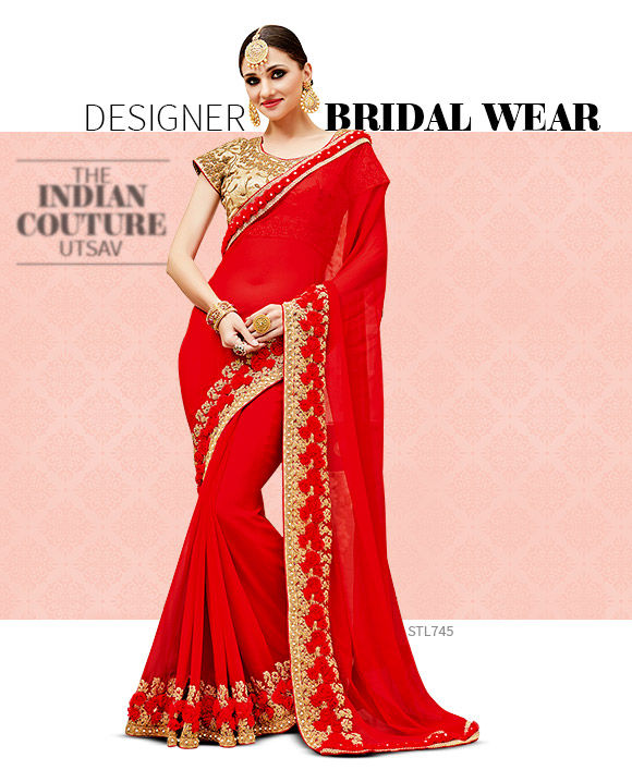 Bright hues in trending wedding styles from India. Shop!