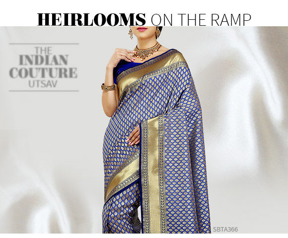 Heritage Sarees in Banarasi, Tussar Silk, Sournachuri and more. Shop!