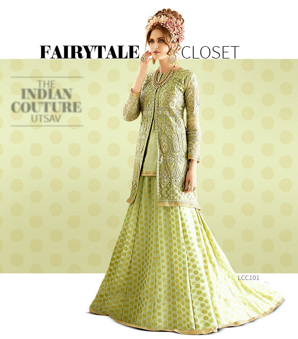 Indo Western Lehenga cholis with Jackets. Shop!