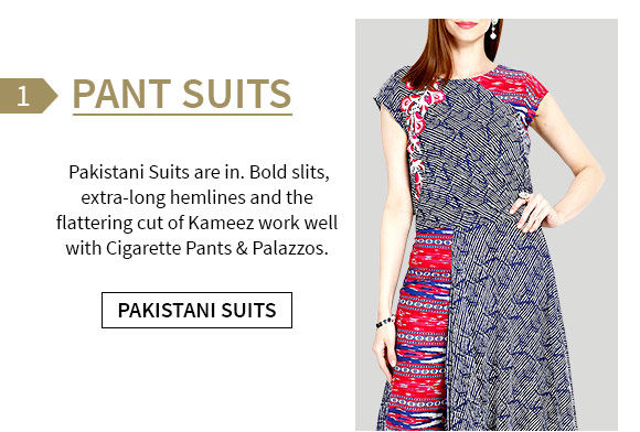 Pakistani Suits with Pants and palazzos. Shop!