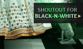 Monochrome Array of Black & White Sarees, Suits, Dresses and Gowns. Shop!