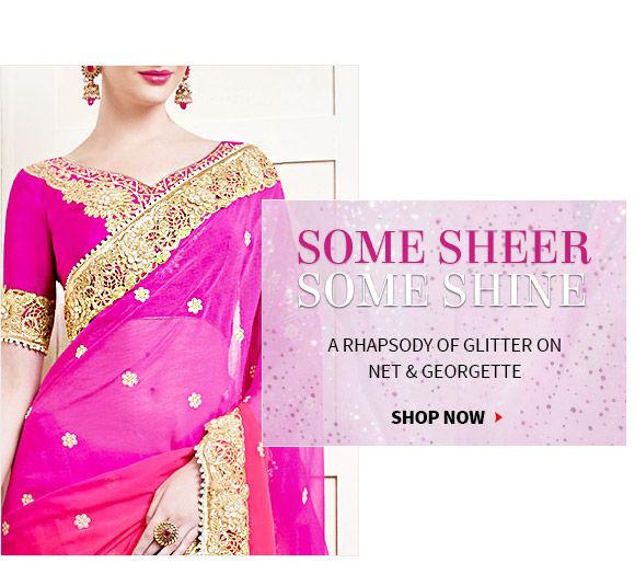 Sheer & Shine Collection of Net Sarees, Sequined Anarkalis, Embroidered Lehengas & more. Shop!