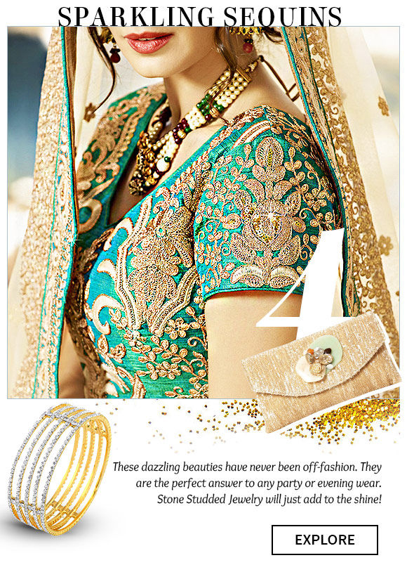 Select from our wide range of Ensembles splashed with Sequins. Buy Now!