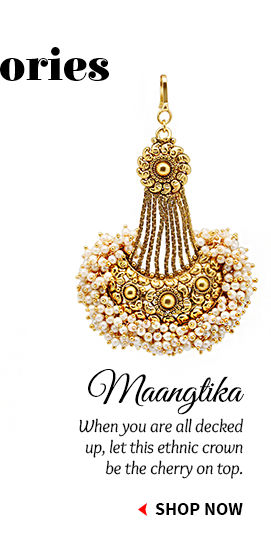 Oxidised Polished, Pearl, Stone Studded Maangtikkas & more. Buy Now!