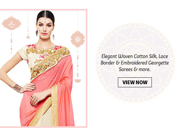 Choose from our wide range of traditional & contemporary Sarees. Shop Now!