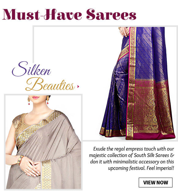 Choose from our wide array of South Silk Sarees. Buy Now!
