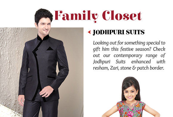 Pick your favorite from our lovely range of Jodhpuri Suits. Shop Now!