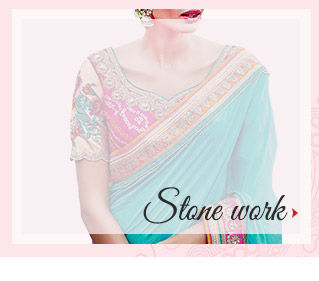 Embellished range of Attires with Stone and Zari. Shop!