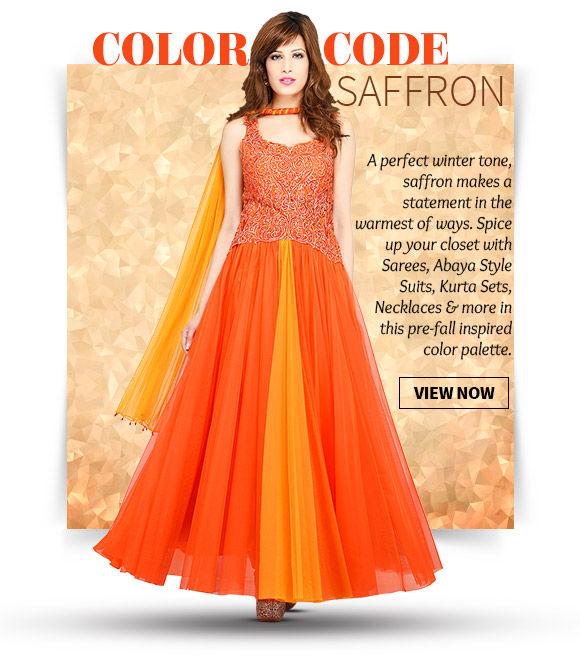A wide range of Ensembles in Saffron hue. Buy Now!