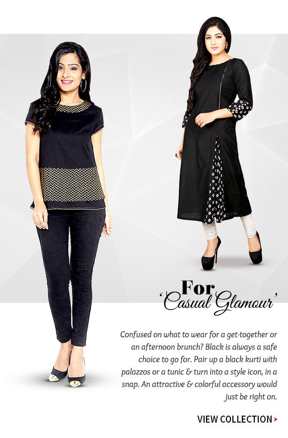 Choose from our wide range of Casual Wear in Black. Buy Now!