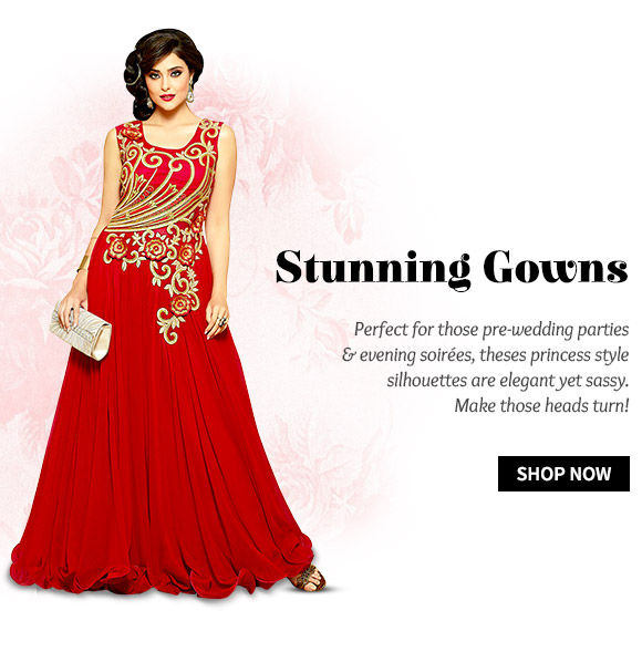 A stunning range of ethnic Gowns. Buy Now!
