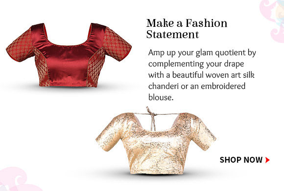 Pick from our beautiful range of statement blouses. Buy Now!