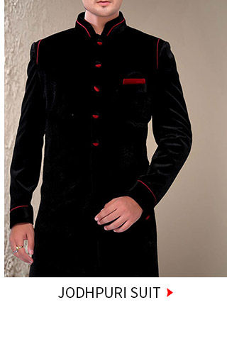 A myriad of smart & classic Jodhpuri Suits & Dhotis. Buy Now!