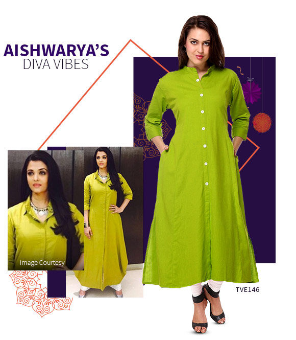Long Kurtas in cotton and georgette in bright colors. Shop!