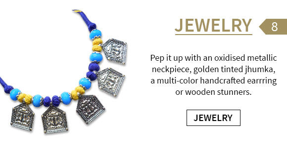 Campus-ready Oxidised, handcrafted or wooden Jewelry to team up with all fusion wear. Shop!