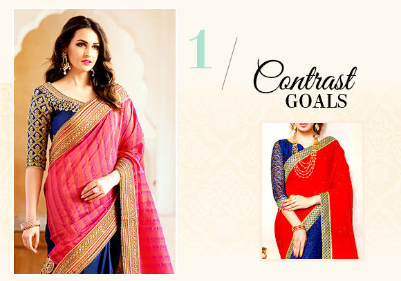 Diwali fashion: Half-n-Half Sarees. Shop!