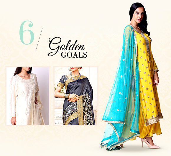 Diwali fashion:Attires with Gota work.Shop!