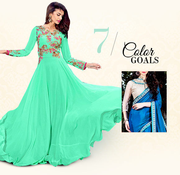 Diwali fashion: Bright colored attires. Shop!