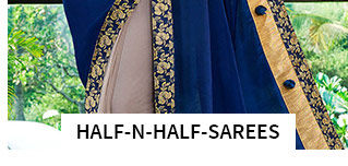 Half-n-Half Sarees in pretty shades. Shop!