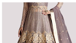 Indo Western Lehengas in pretty shades. Shop!