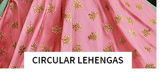 Circular Lehengas in pretty shades. Shop!