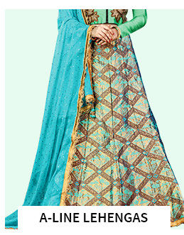 A-Line Lehengas in pretty shades. Shop!